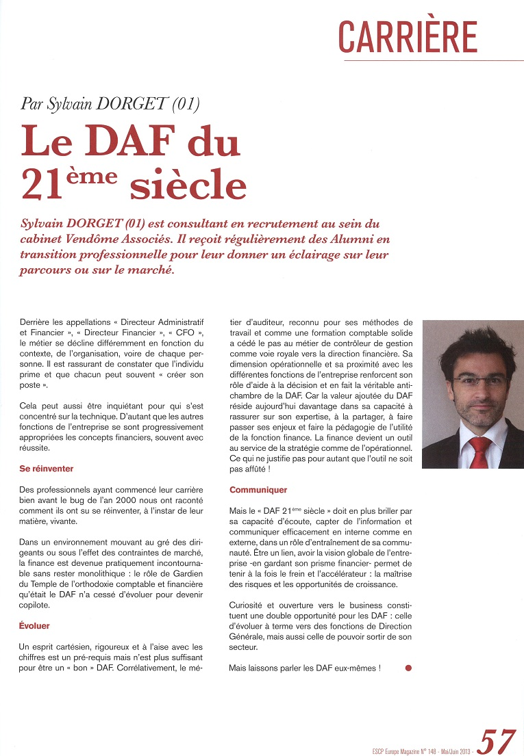 """Le DAF du 21ème Siècle"""" - VENDOME ASSOCIES"""