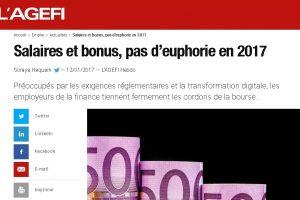 Agefi Bonus pas d'euphorie en 2017