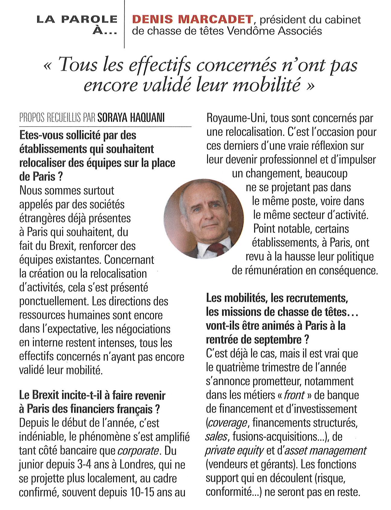 La parole à Denis Marcadet