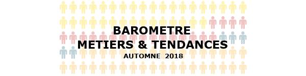 Baromètre Métiers AUTOMNE 2018