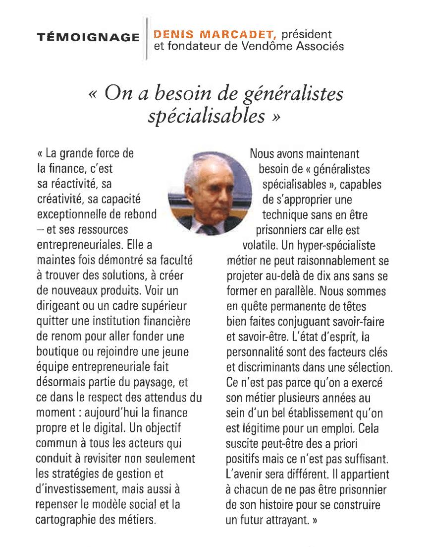 Témoignage Denis Marcadet L'Agefi